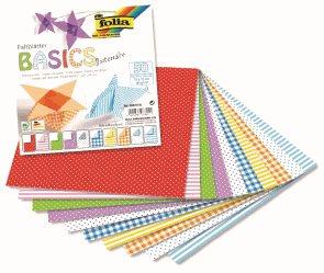 Origami papír Basic intensiv, 80 g/m2 - 15 x 15 cm