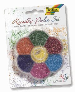 Rokajlové korálky - barevný mix, 90 g