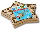 Dárkové krabičky - hvězdy - 25 ks - natur