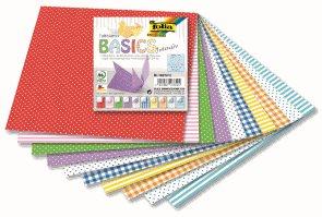 Origami papír Basic intensiv, 80 g/m2 - 10 x 10 cm