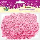 Polystyrenové kuličky, 4-6 mm - růžové