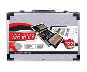 Velká výtvarná sada Daler-Rowney - Complete Artist Kit - 122 ks
