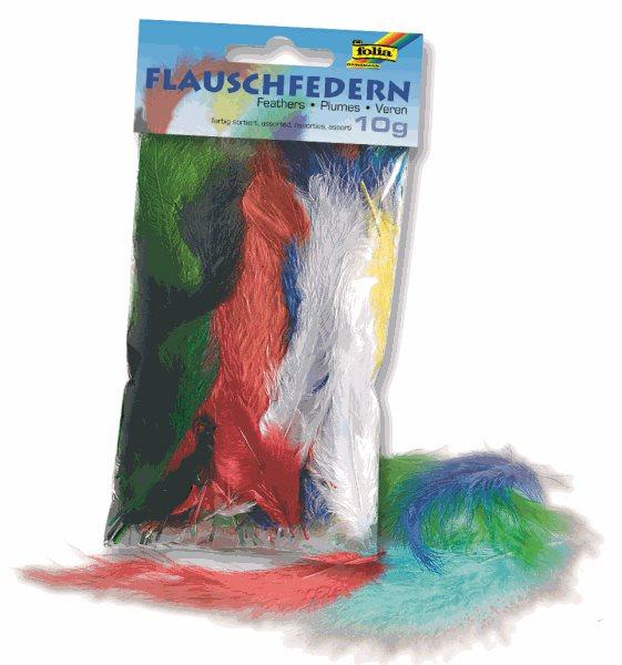 Barevná peříčka flaušová , mix barev 10 g