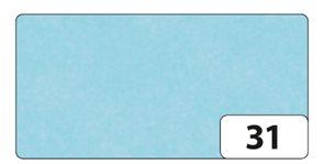 Hedvábný papír 50x70 cm, 20 g, 26 listů - světle modrá