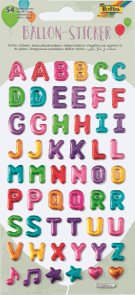 Folia 3D samolepky - abeceda