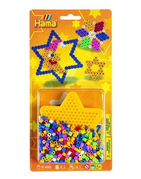 Zažehlovací korálky HAMA set - Motýl, 450ks MIDI