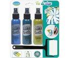 Barvy na textil IZINK - Modrá Hawai - sada 3x tekutá barva, 100ml