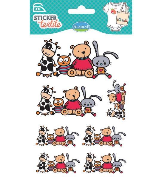 Nažehlovací nálepky na textil - Plyšové hračky
