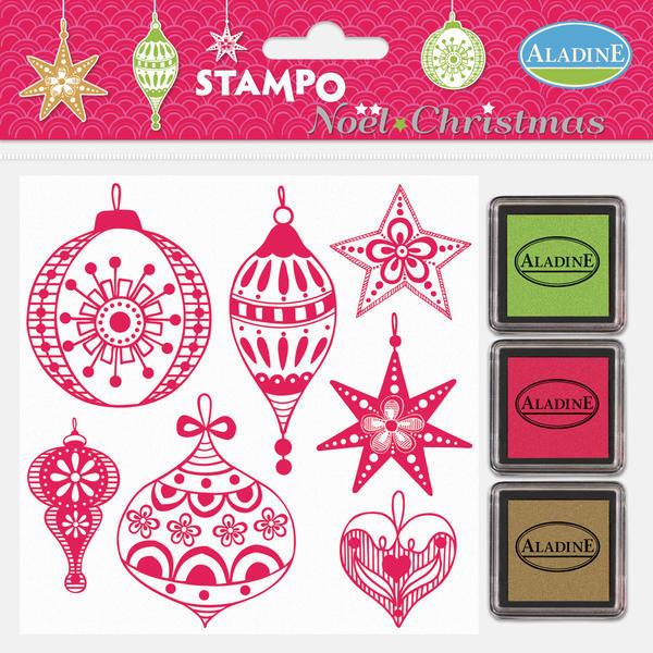Gumová razítka - Vánoční ozdoby