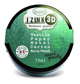 3D strukturovací pasta IZINK, perleťová tmavě zelená