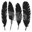 Plastová šablona - Four feathers (30,5 x 30,5 cm)