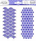 Plastová šablona Aladine - Duo japonská geometrie