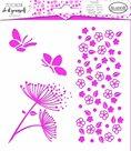 Plastová šablona Aladine - Kytičky a motýlci