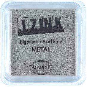 Inkoust IZINK mini, pomaluschnoucí - metalická stříbrná