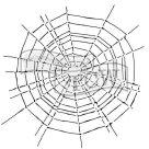 Plastová šablona - Pavučina ( 15,24 cm x 15,24 cm)