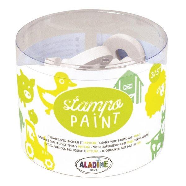 Gumová malovací razítka Aladine - Farma, 12 ks