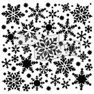 Plastová šablona - Vločky ( 15,24 x 15,24 cm )