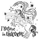 Plastová šablona - Believe in Unicorns ( 30,5 x 30,5 cm )