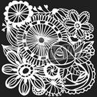 Plastová šablona - Blooming Garden ( 15,24 x 15,24 cm )