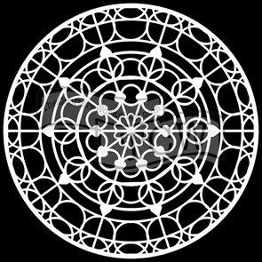 Plastová šablona - Mandala Skylight ( 30,5 x 30,5 cm )