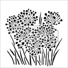 Plastová šablona - Cibulové květy ( 30,5 x 30,5 cm )