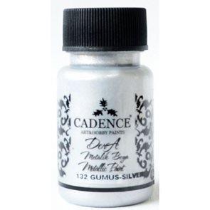 Akrylová barva Cadence DORA metalic, 50 ml - stříbrná