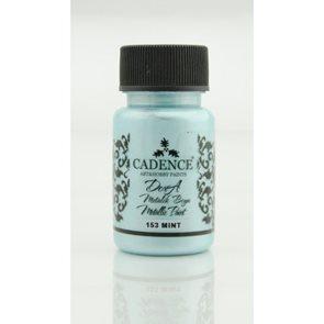 Akrylová barva Cadence DORA metalic, 50 ml - mentolová
