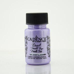 Akrylová barva Cadence DORA metalic, 50 ml - levandulová