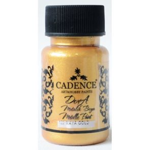 Akrylová barva Cadence DORA metalic, 50 ml - majské zlato