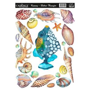 Nažehlovací obrázky na textil Cadence - Mořské poklady