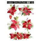 Nažehlovací obrázek na textil Cadence - vánoční hvězda, 25 x 35 cm
