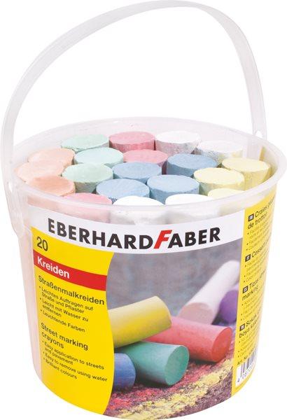 Chodníkové křídy Eberhard Faber - 20ks