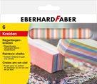 Chodníkové křídy Eberhard Faber duhové - 6ks