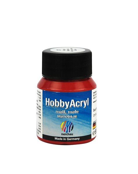 Hobby Acryl matt Nerchau - 59 ml - červená