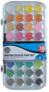 Sada akvarelových barev SIMPLY 36 odstínů