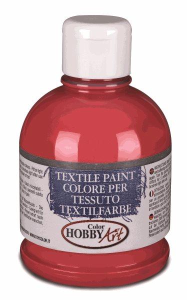 Barva na textil Color Hobby Art, 250ml - karmínově červená