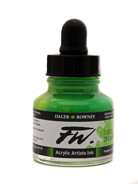 Umělecká akrylová tuš Daler Rowney 29,5 ml - Light Green