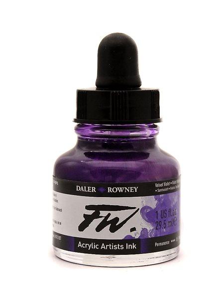 Umělecká akrylová tuš Daler Rowney 29,5 ml - Velvet Viole