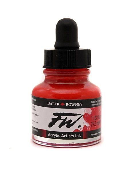 Umělecká akrylová tuš Daler Rowney 29,5 ml - Flame Red