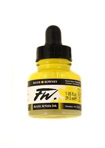 Umělecká akrylová tuš Daler Rowney 29,5 ml - Process Yellow