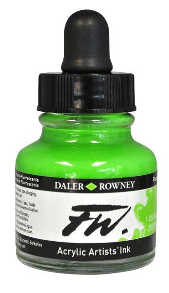 Umělecká akrylová tuš Daler Rowney 29,5 ml - Fluo Green