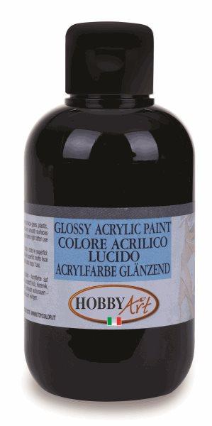Akrylová barva Hobby Art, lesklá 50ml - černá