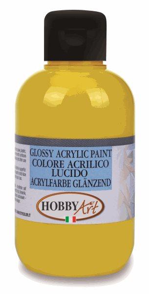 Akrylová barva Hobby Art, lesklá 250ml - žlutá