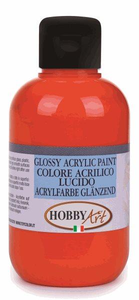 Akrylová barva Hobby Art, lesklá 250ml - oranžová