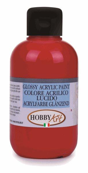 Akrylová barva Hobby Art, lesklá 250ml - karmín. červená