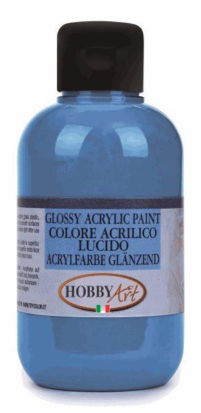 Akrylová barva Hobby Art, lesklá 250ml - modrá