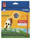 Pastelky Lyra GROOVE Slim, trojhranné, 24 ks + ořezávátko