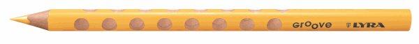 Pastelka Lyra GROOVE JUMBO, trojhranná - žlutá