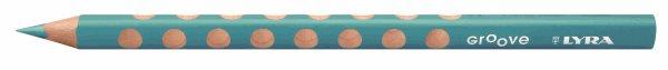 Pastelka Lyra GROOVE JUMBO, trojhranná - akvamarín