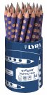 Sada grafitových tužek Lyra GROOVE JUMBO v kelímku, trojhranné, 36ks